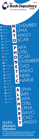 13b/14 Code: NATO phonetic alphabet