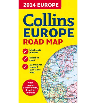 2014 Collins Map of Europe