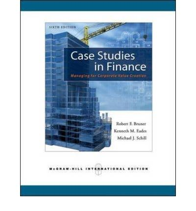 case study in finance bruner Fi414 advanced business finance search this site syllabus textbook schedule class notes glossary case study question group  a manual written by bob bruner.