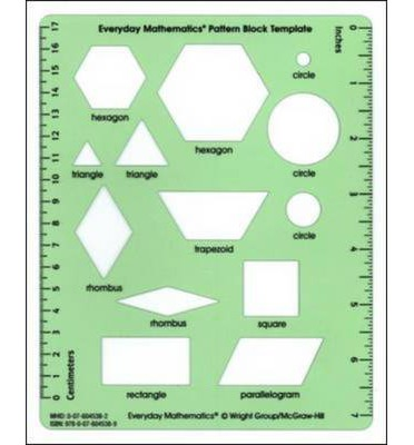 everyday math pattern block template - everyday mathematics grades 1 3 pattern block template