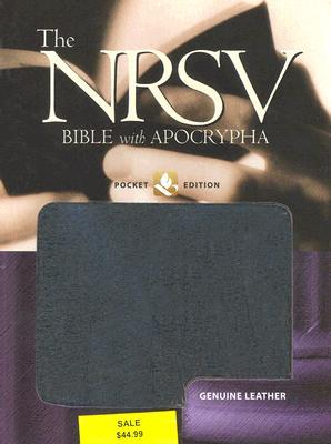 The New Revised Standard Version Bible with Apocrypha: Genuine Leather Black