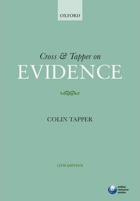 Cross and Tapper on Evidence