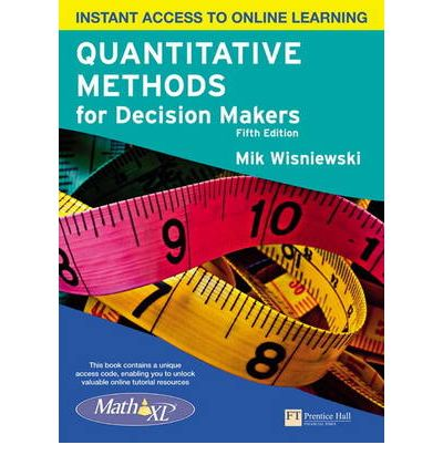 quantitative methods in decsion making Quantitative techniques in decision making help us analyze decision alternatives in a rational way that enables us to choose a solution that increases the likelihood of meeting defined success criteria.