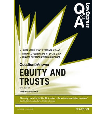 equity and trusts law Landmark cases in equity continues the series of essay collections which began with landmark cases in the law of restitution (2006) and continued with landmark.
