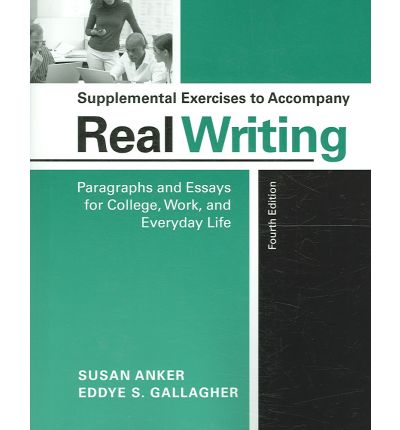 real essays with readings by susan anker Rent textbook real essays with readings writing for success in college, work, and everyday life by anker, susan - 9780312648084 price: $1000.