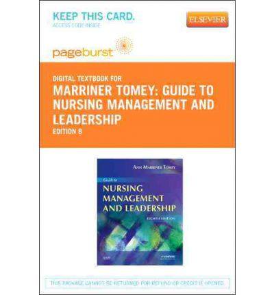 guide to nursing management and leadership ann marriner tomey pdf