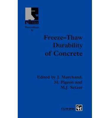 Freeze thaw durability of concrete j marchand for What happens to concrete if it freezes