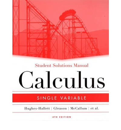 Calculus: Student Solutions Manual
