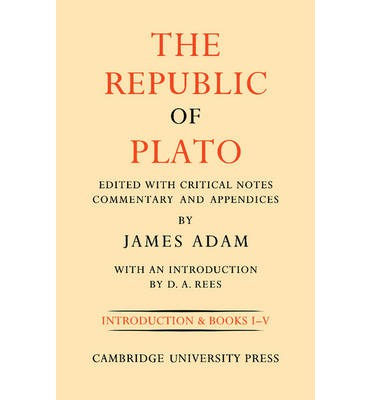 The Republic of Plato: Volume 1, Books I-V: v. 1