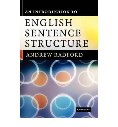 an introduction to english sentence structure andrew