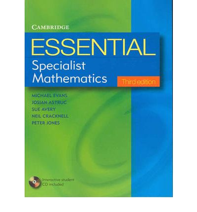 Specialist Mathematics Unit3 and 4 with Chapter Solutions 2017 Textbook PDF