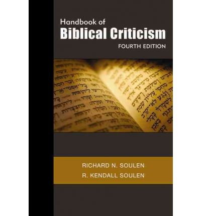 Handbook of Biblical Criticism