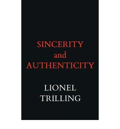 LIONEL PDF AUTHENTICITY TRILLING AND SINCERITY