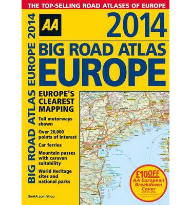 Aa Big Road Atlas Europe 2014