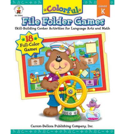 Colorful File Folder Games Grade Kindergarten : Skill-Building Center Activities for Language Arts and Math