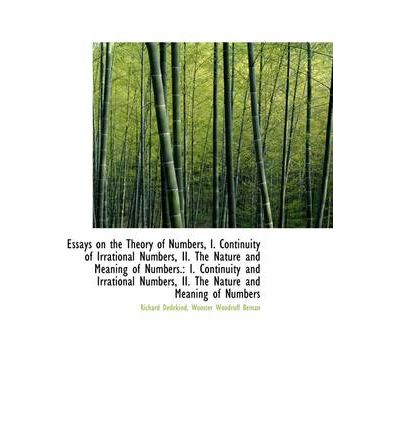 Essays on theory of numbers