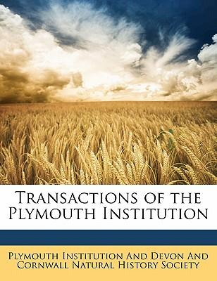 Transactions of the Plymouth Institution