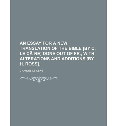 Essay about bible translation