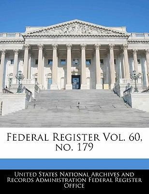 Federal Register Vol. 60, No. 179
