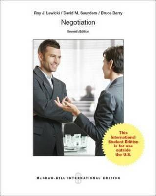 negotiation roy j lewicki Assingment in word format text: negotiations – by roy j lewicki, david m  saunders and bruce barry publisher: thomson south-westernmcgraw-hill irwin.