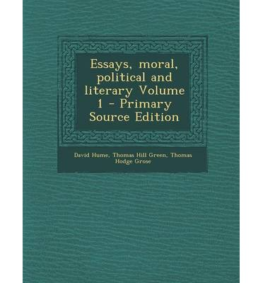 hume essays political