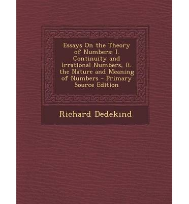 essay on the theory of numbers dedekind