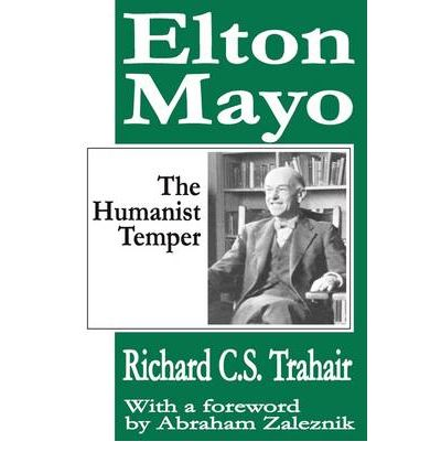 elton mayo biography key works and theories