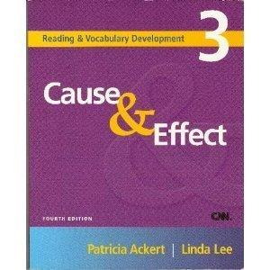 Cause & Effect : Patricia Ackert : 9781413004168