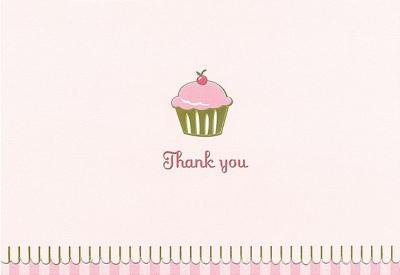 Thank You Notes Cupcake