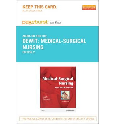 Medical-Surgical Nursing - Elsevier eBook on Intel Education Study (Retail Access Card)