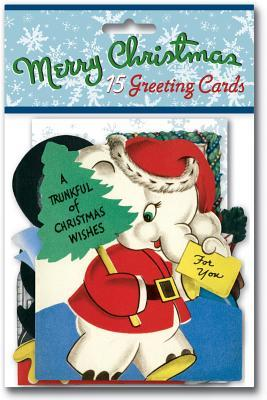 Vintage Christmas Cards Packet : 15 Greeting Cards with Envelopes