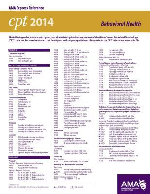 cpt 2014 express reference coding card orthopaedics. Black Bedroom Furniture Sets. Home Design Ideas