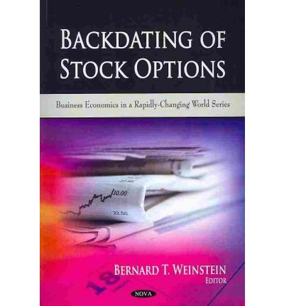 Stock options backdating cases