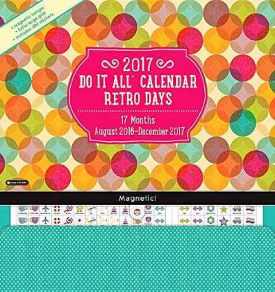 2017 Retro Days Do It All Wall Calendar