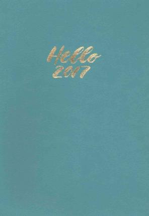 Totally Turquoise Leatheresque Weekly Planner 2017