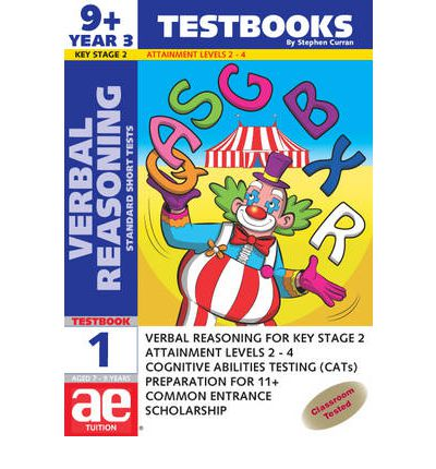 9+ (Year 3) Verbal Reasoning Testbook 1