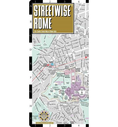 Streetwise Rome Map - Laminated City Street Map of Rome, Italy