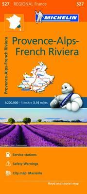 Provence French Riviera Map 527 : Michelin Regional Maps: France