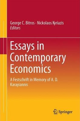 essays on economics and economists How effective is economic theory this notion of effective theory sets a useful standard for considering economics economists are not in an essay on the.