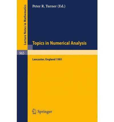 Topics in Numerical Analysis
