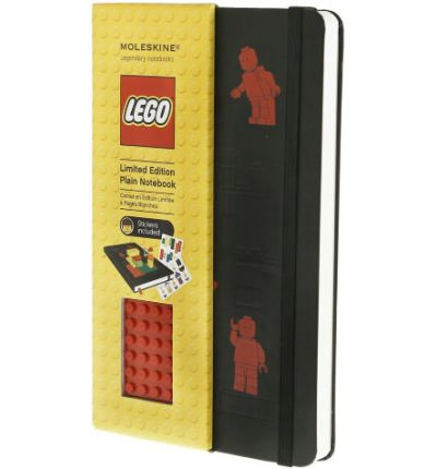 Moleskine Limited Edition Lego Red Brick Plain Large Notebook Black Cover