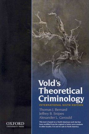 Vold's Theoretical Criminology
