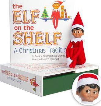 The Elf on the Shelf Boy Dark Doll with Book