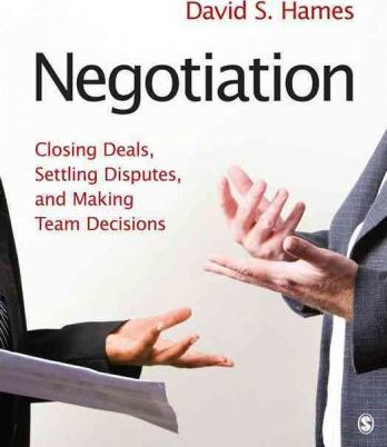 negotiation closing deals settling disputes and making team decisions pdf