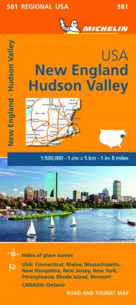 Michelin USA: New England, Hudson Valley Map 581