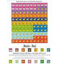 Dodon't Forget and Save the Day Stickers from Dodo Pad : 320 Self-Adhesive Reminder Stickers in 14 Different Designs