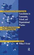 Consultation in Community, School and Organizational Practice