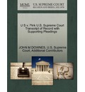 U S V. Pink U.S. Supreme Court Transcript of Record with Supporting Pleadings