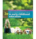 Beginning Essentials in Early Childhood Education: Strategies and Skills