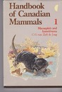 Handbooks of Canadian Mammals: Marsupials and Insectivores Vol 1